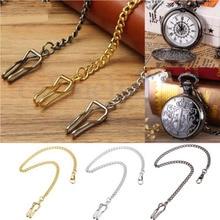 Unisex Retro Antique Gift Pocket Chain Watch Holder Necklace Jean Belt Decor