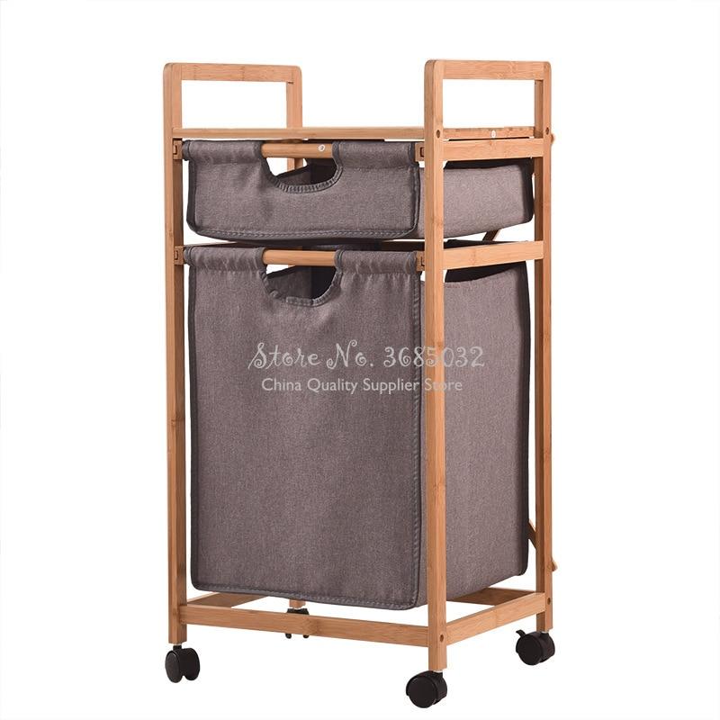 طوي Baboom الطابق حامل الحمام التشطيب رف القذرة صندوق تخزين ملابس سلة الغسيل سلة مع عجلات تخزين الرف