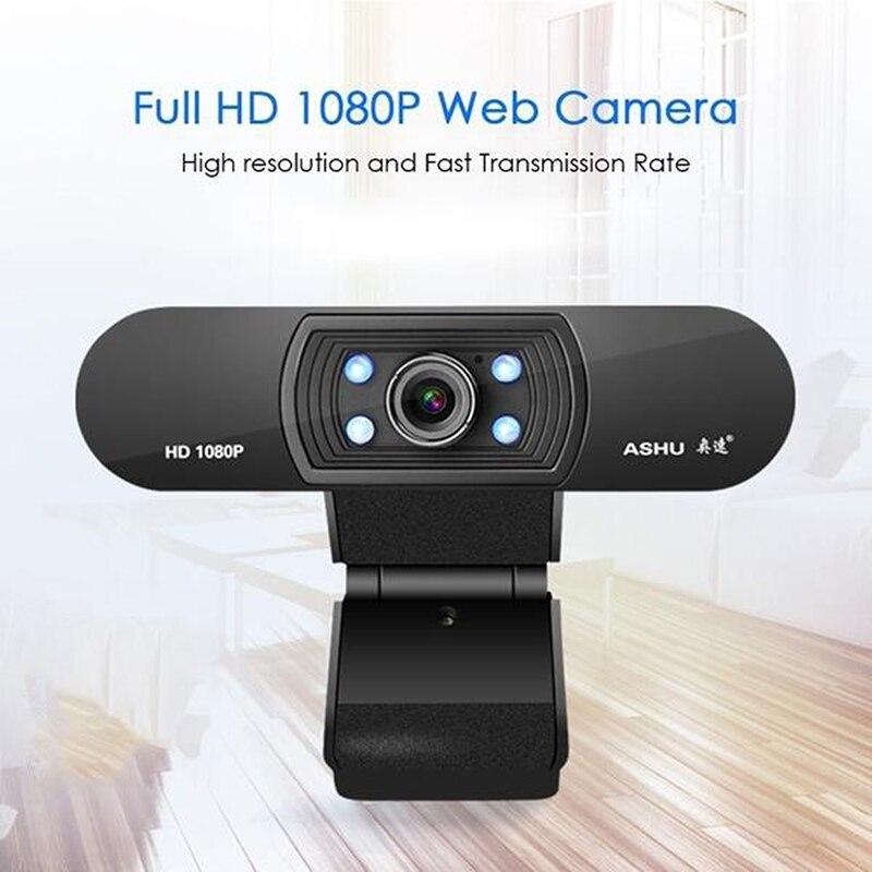 Ashu H800 USB Webcam 1080P HD USB Camera for Computer PC Web Camera With Microphone Webcamera Full HD Video Web Cam недорого