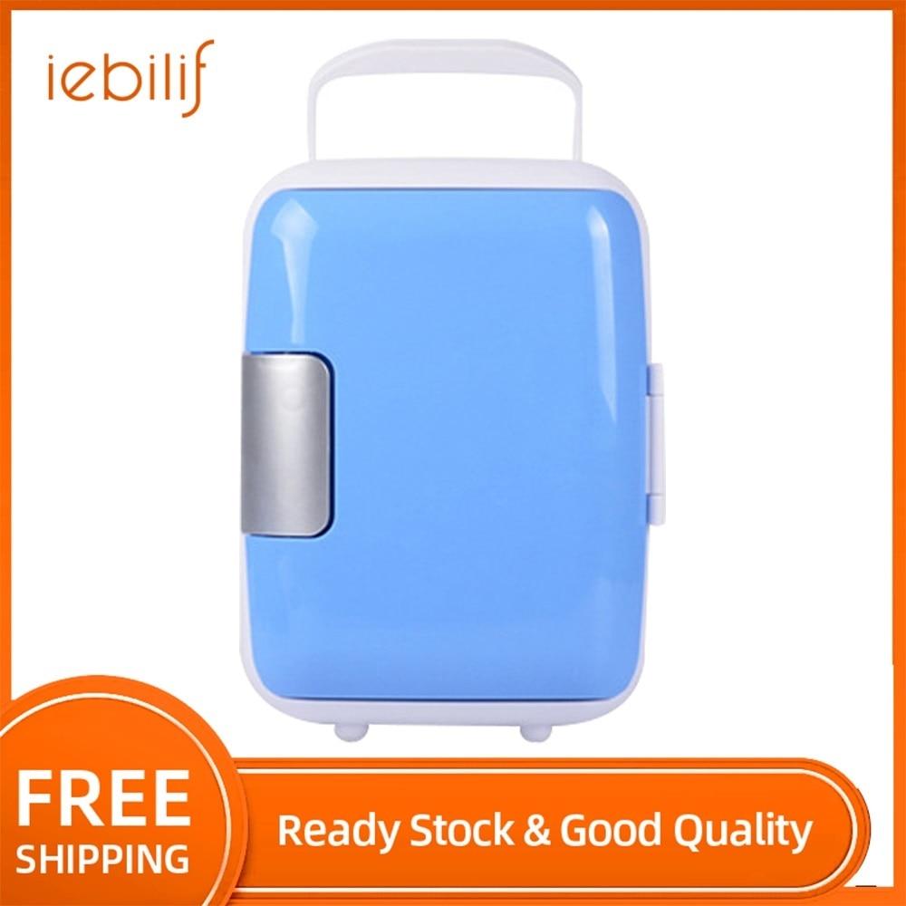 4L Mini Cosmetics Fridge Portable Food Drinkes Refrigerator Cooler Warmer Freezer Home Car Dual Use Fridge For Picnic Travel