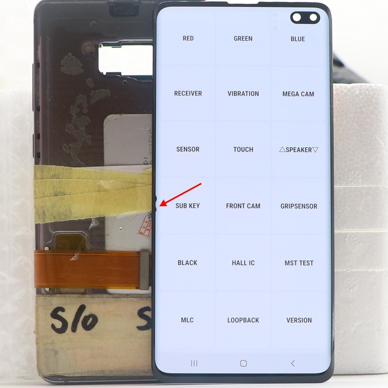 Original S10+ AMOLED LCD For SAMSUNG Galaxy S10 Plus G975 SM-G9750 G975F LCD Display Touch Screen Digitizer Assembly With defect enlarge