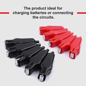 New 40Pcs Mini Sheathed Alligator Clip Test Alligator Clips Power Clamp Electrical Jumper Wire 20A PVC Car-Stying Red and Black
