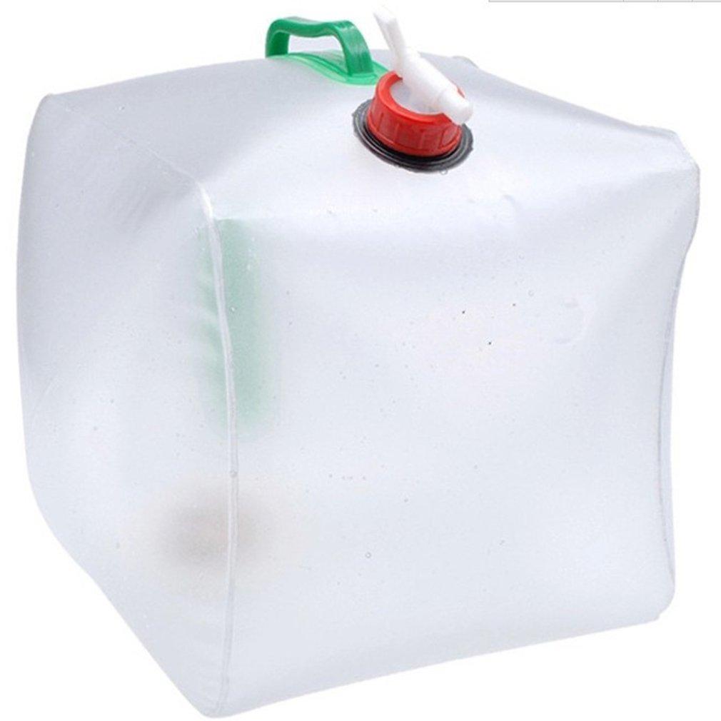 20L al aire libre plegable bolsa de agua potable coche contenedor de transporte de agua para Camping al aire libre senderismo Picnic barbacoa