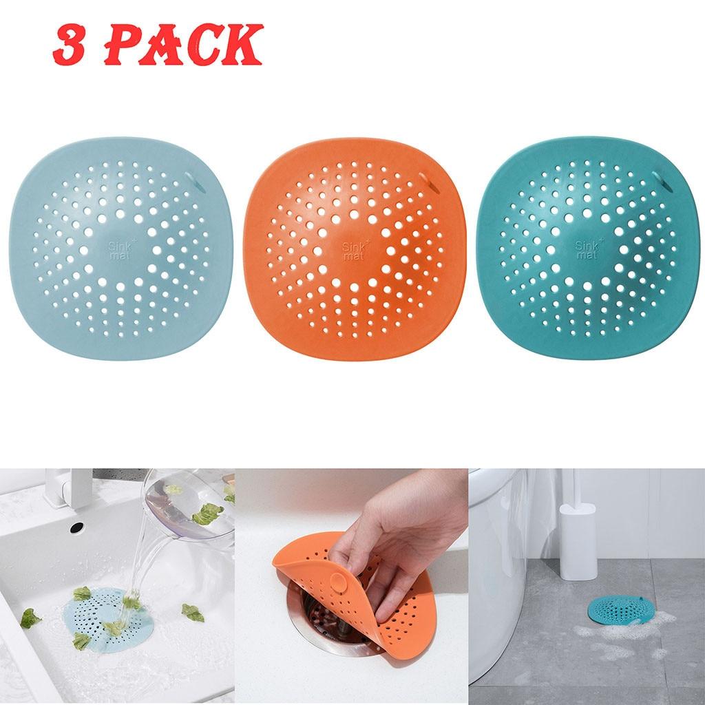 3 uds. Filtro de fregadero cómodo cubierta de desagüe de baño accesorios de filtro de alcantarillado de cocina decoración colador de residuos Decoración