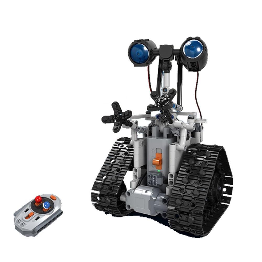 2019 NEW Upgrade Winner 7112 RC Robot 2.4G Intelligent Electric RC Robot Building Block DIY Unassembled Kit Robot Toy Kids Gift
