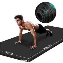 Yoga Matte Fitness Gym Sport Werkzeuge 20mm Männer Verlängert Verbreitert Verdickt BNR Faltbare Rebound Geruchlos Yogamat Esterilla Pilates