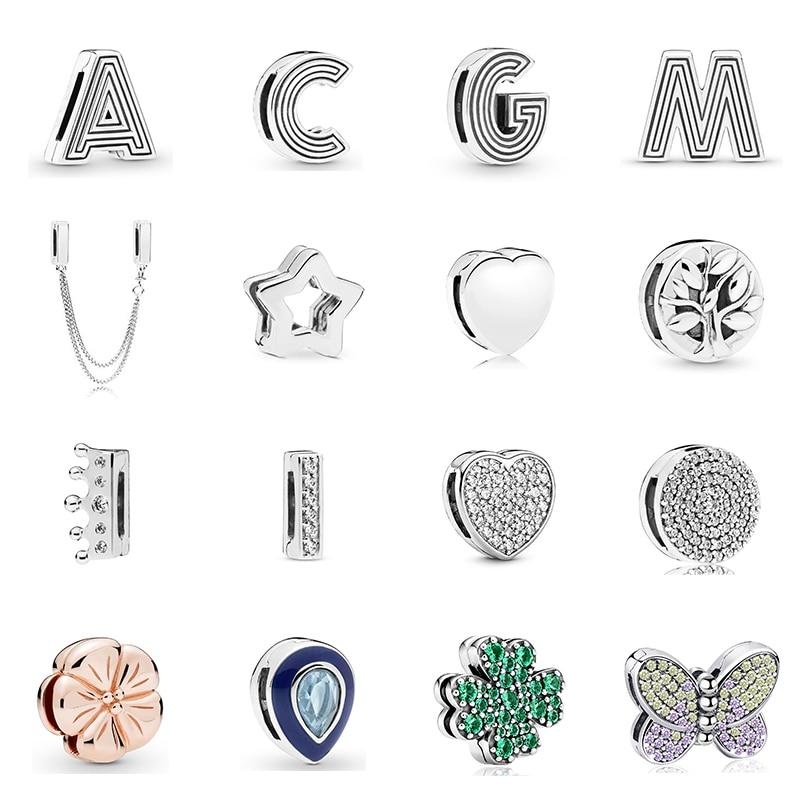 Новый-оригинальный-зажим-для-алфавита-из-стерлингового-серебра-925-пробы-бусины-талисманы-подходят-для-браслетов-с-отражениями-«сделай-сам»