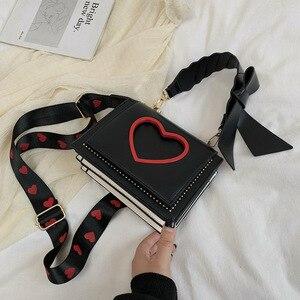 2021 Bags For Women Luxury Shoulder Bag Autumn And Winter New Love Shoulder Bag PU Leather Bow Decoration Crossbody Handbag sac