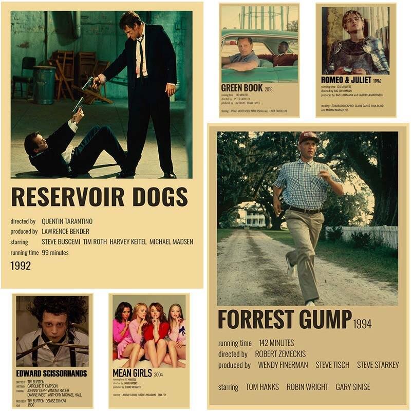 Плакаты из крафт-бумаги в стиле ретро для классических фильмов, плакаты с HD-печатью, плакаты для собак/красивых мальчиков, настенное искусст...