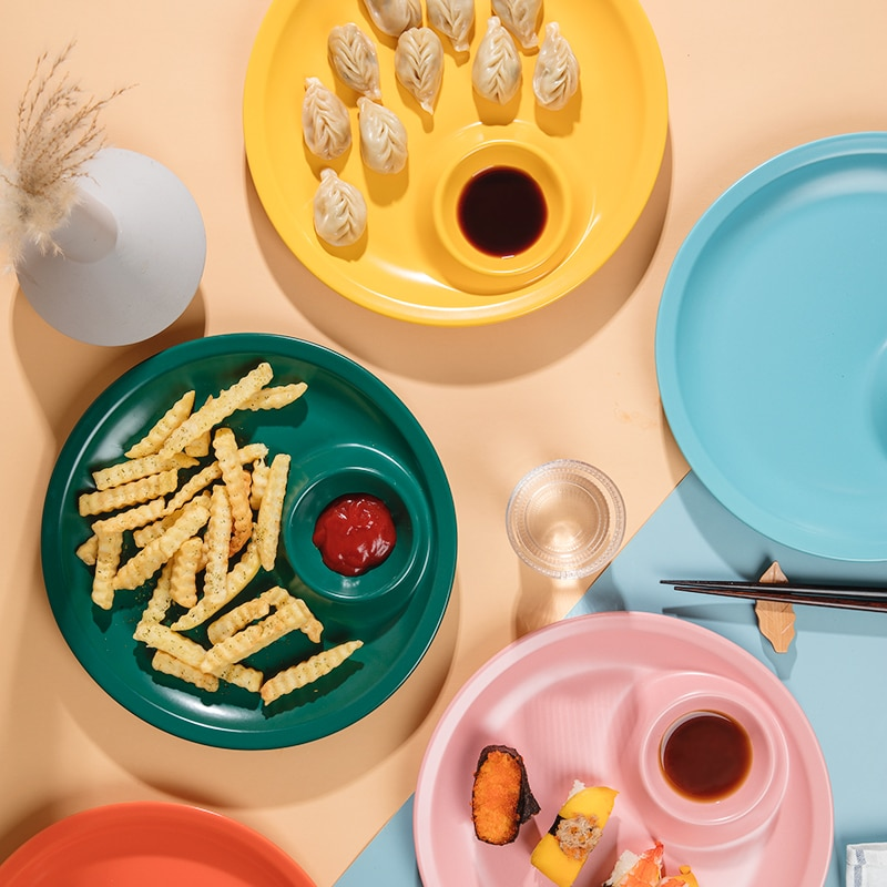 طبق فطائر دائري إبداعي ، بورسلين ، أطباق صغيرة ، أدوات مائدة