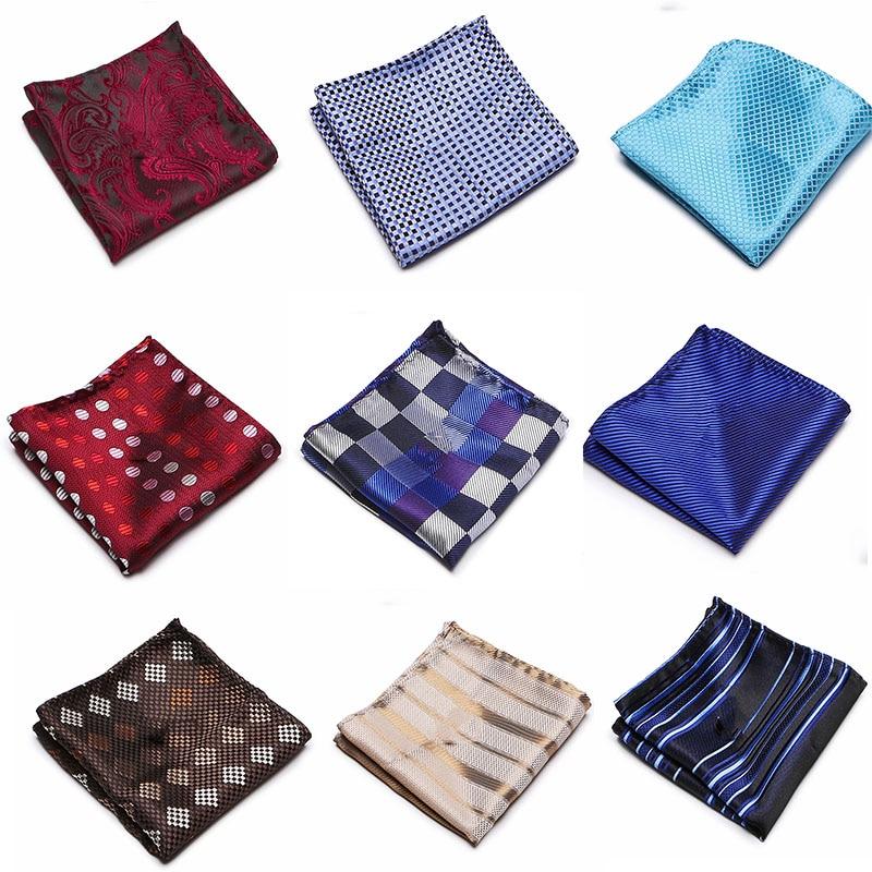 New Paisley Floral Men 100% Silk Satin Pocket Square Hanky Jacquard Woven Luxury Classic Wedding Party Handkerchief