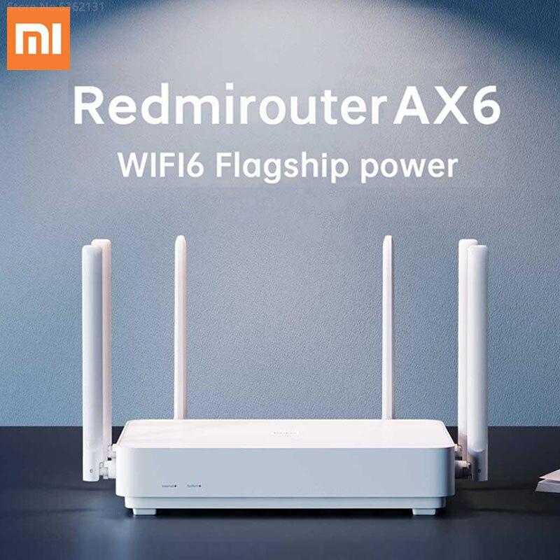 Xiaomi redmi roteador ax6 wifi 6 6-core 2.4g 5ghz dupla-faixa 3 gigabit taxa sem fio 512mb rede wi-fi repetidor amplificador de sinal