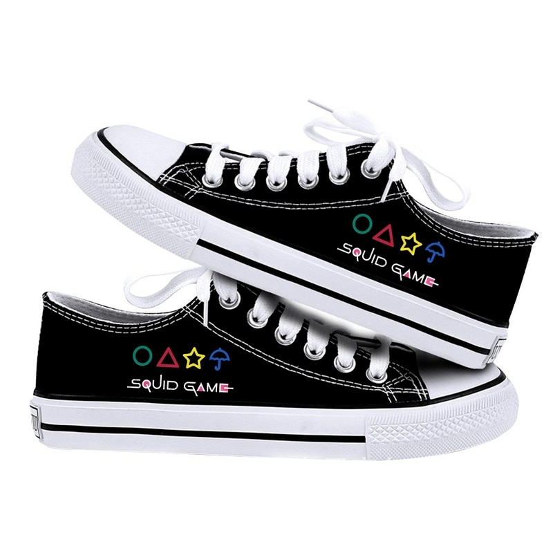 2021 New Low-cut Canvas Shoes Squid Game Vulcanized Shoes Casual Comfortable Couple Shoes Men and Wo