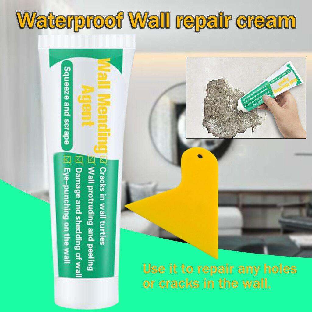 250ml Wall Mending Agent Wall Repair Cream Latex Paint Waterproof Gypsum Wall Paint Valid Mouldproof Wall Crack Nail Repair