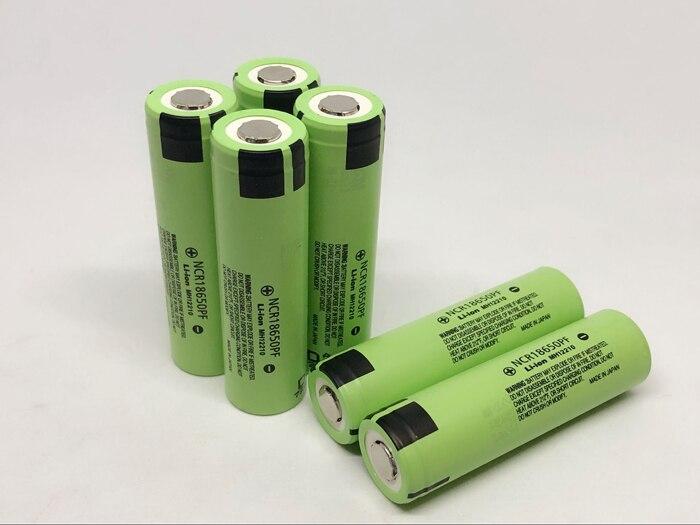 Panasonic NCR18650PF 2900mAh 18650 3,7 V 10A Entladung Li-Ion Power Werkzeug Batterie Wiederaufladbare Lithium-Batterien