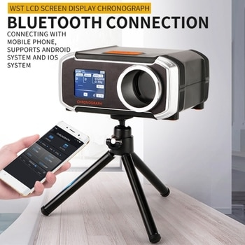 LCD Display Matching Chronograph Shooting Speed Tester Velocity Meter Velocimetry Measuring with Phone APP & Tripod 649A