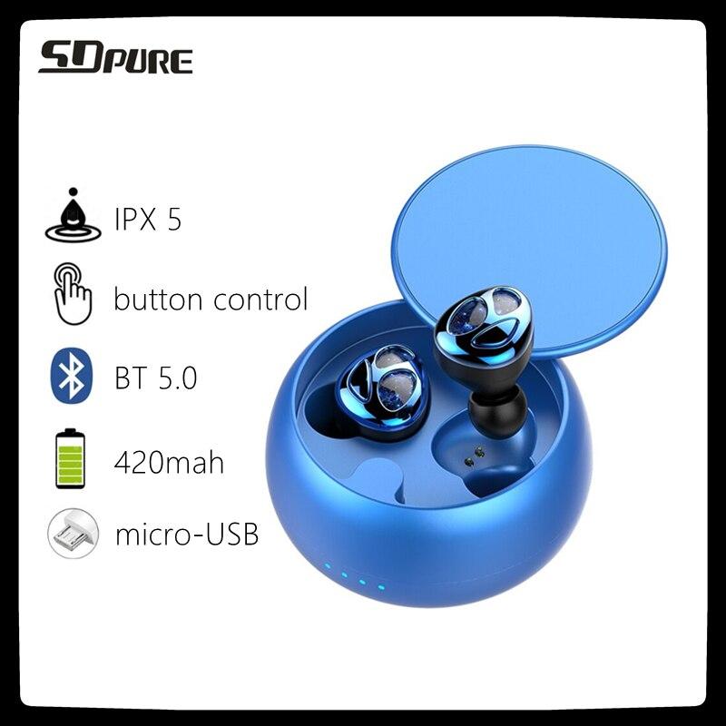 Беспроводные bluetooth-наушники SDpure 5,0, оригинальные, ipx5 водонепроницаемые
