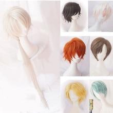 Mistik Messenger Cosplay Harajuku kıvırcık saç peruk 707 Yoosung Zen V japon saç kostüm Luciel Choi Zen Jumin Han Unisex peruk