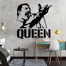 Vinyl Art Design Wall Sticker Modern Freddie Mercury Queen Band Home Decoration Beauty Fashion Poster Mural Modern Decor W676