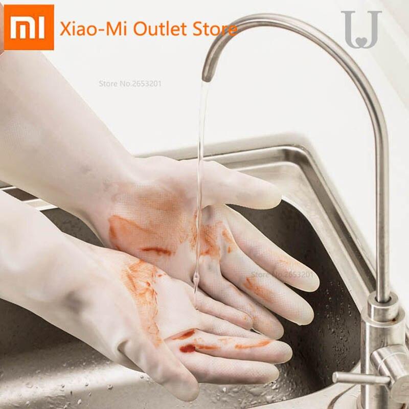 Xiaomi youpin jordanjudy nitrilo luvas de borracha do sexo feminino tarefas domésticas limpeza de plástico cozinha lavar louça artefato lavagem pano