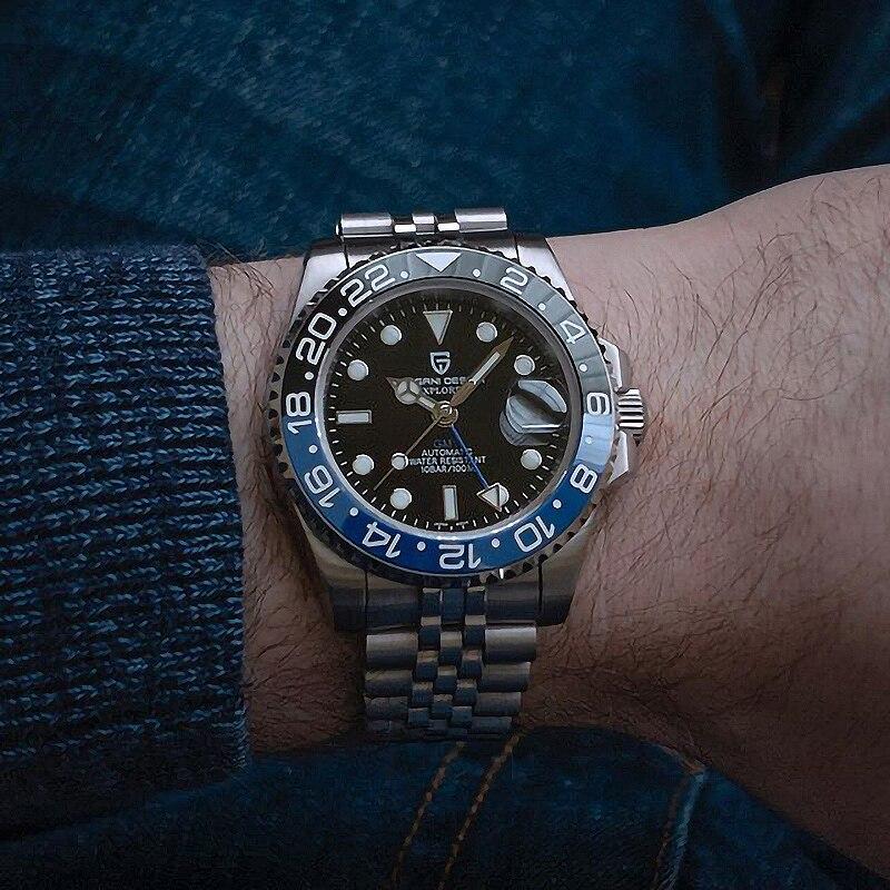 PAGANI DESIGN, relojes mecánicos automáticos de 40mm para hombre, cristal de zafiro GMT 2020, reloj de buceo de lujo para hombre, reloj Masculino
