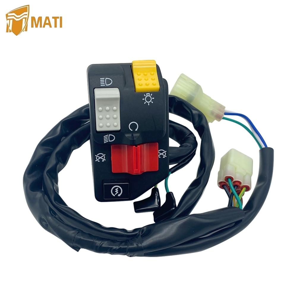 Mati Handlebar Switch Start Stop Headlight for Honda ATV TRX400EX Fourtrax Sportrax A TRX 400EX Replacement 35020-HN1-000