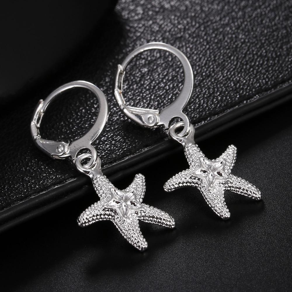 Лидер-продаж-100-925-стерлингового-серебра-уличный-стиль-Морская-звезда-серьги-для-женщин-ювелирное-изделие-для-ушей-зажим-высокое-качество