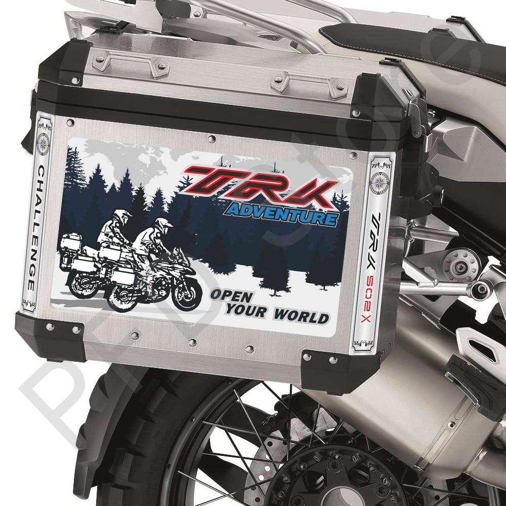 Motocicleta adesivos decalques caixa lateral superior da cauda casos panniers bagagem de alumínio apto para benelli trk502x trk 502x adv aventura