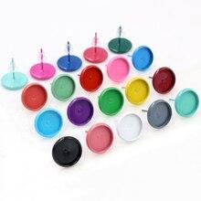 (Nieuwe Kleuren) 8 Mm 10 Mm 12 Mm 20 Pcs Multi-Kleuren Oorbel Studs, oorbellen Blank/Base,Fit 8-12 Mm Glas Cabochons, Oorbel Instelling
