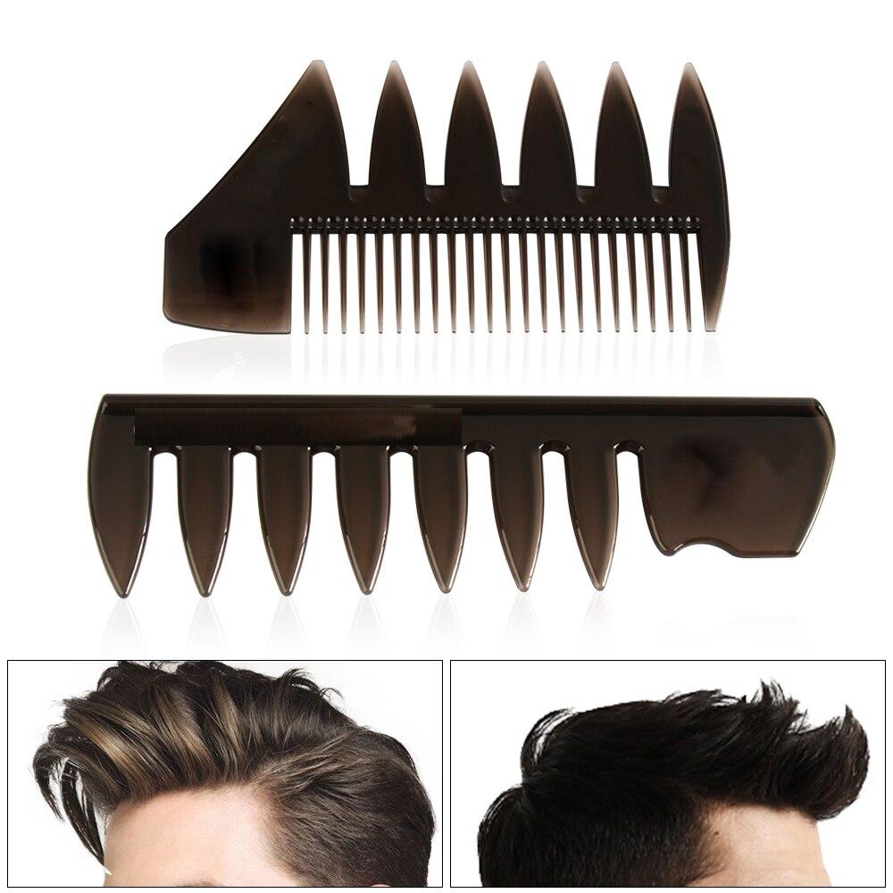 1 pièces Salon professionnel large dents brosse à cheveux fourchette peigne barbe coiffure brosse Salon de coiffure outil de coiffure accessoire pour hommes