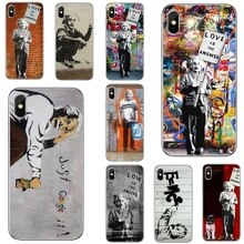 For Samsung Galaxy Note 3 4 5 8 9 S3 S4 S5 Mini S6 S7 Edge S8 S9 S10 Plus Silicone Phone Case Banksy