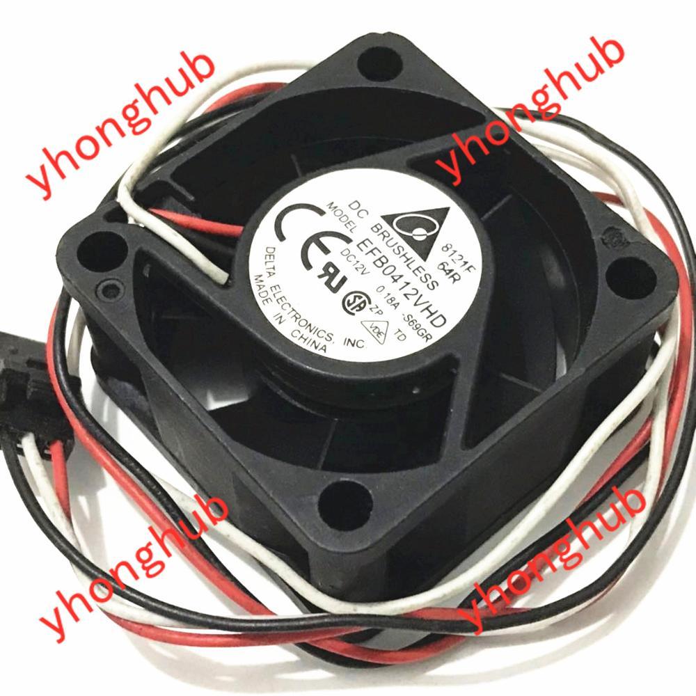 Delta Electronics EFB0412VHD S69GR wentylator chłodzący serwer DC 12V 0.18A 40x40x20mm 3-drutu
