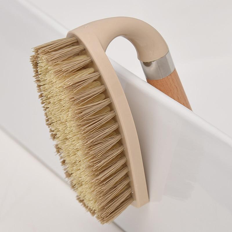 Wooden Cleaning Brush Multifunctional Log Color Shoe Washing Laundry Cleaning Brush Bathroom Floor Decontamination Brush enlarge