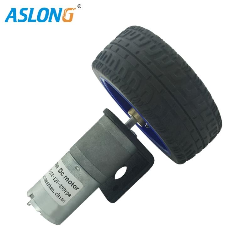 Dc Gear Motor 65Mm Wheel With Encoder Geared Motors 6V 12V 24V With The Wheel For Arduino Smart Car Robot Gearmotors