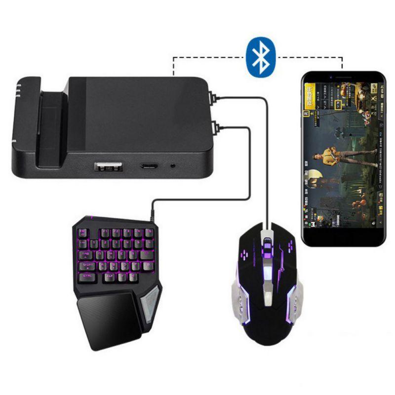 Professionelle Handy Spiel Controller Dual USB Ports Maus Tastatur Kit Battledock Konverter