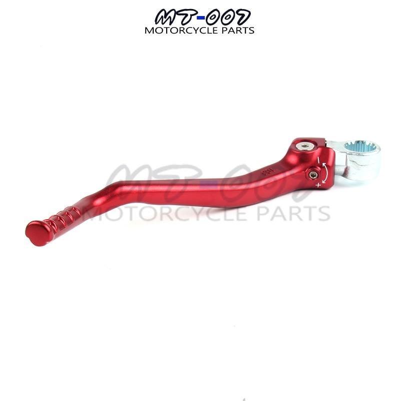 Nuevo brazo de Pedal de palanca de arranque forjado para Motocross CRF150R CRFR150 07-16, bicicleta de Cross fuera de la carretera roja