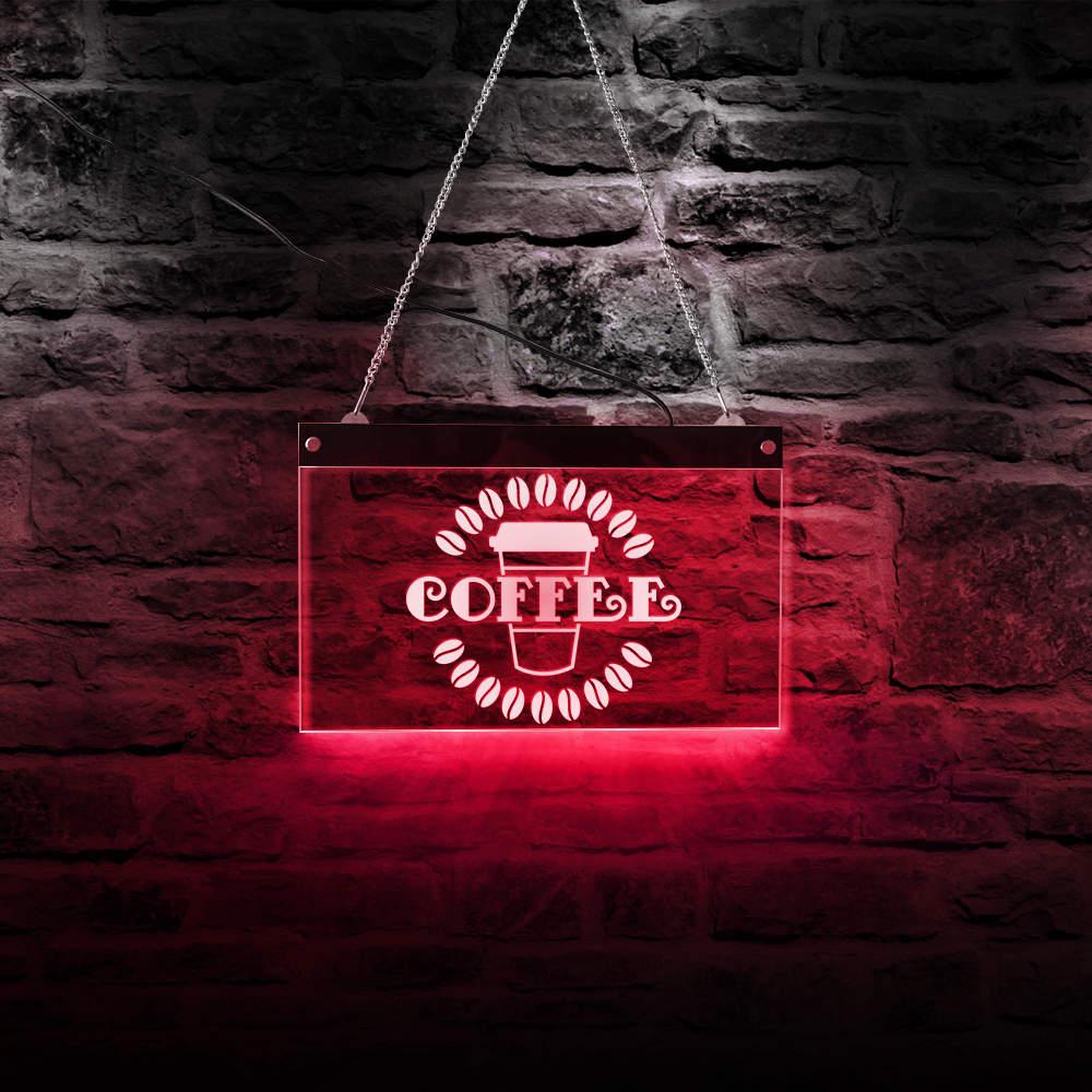 مقهى القهوة الفول شعار شركة علامات جدار معلق مجلس مقهى علامة