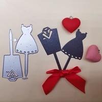 new metal cutting dies scrapbooking bride and groom clothes diy album paper card craft embossing stencil dies 5081mm
