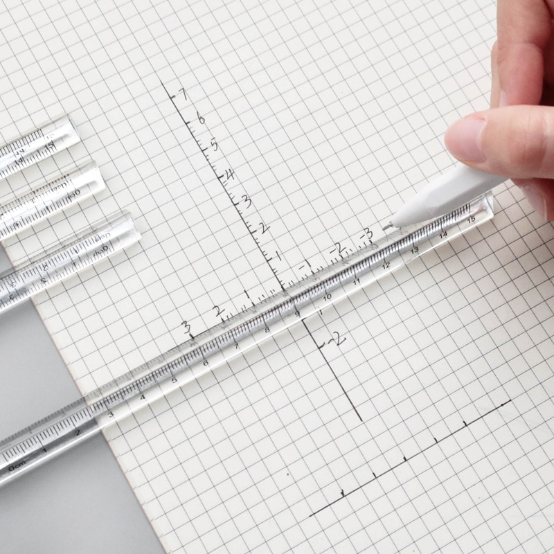 15cm Transparent Straight Ruler Students Stationery Simple Triangular Rulers Kids Scale on Both Sides Acrylic Measuring Tools blel school accessories drafting tools xmas plastic triangular scale ruler students measuring tool rulers