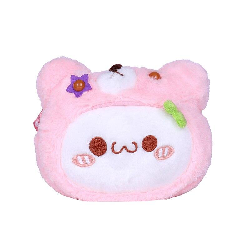 Drop Verschiffen Plüsch Geldbörse Tasche für Mädchen Nette Cartoon Schulter Taschen für Kind Mädchen Kleine Plüsch Tasche Spielzeug kinder kreuz Körper Tasche