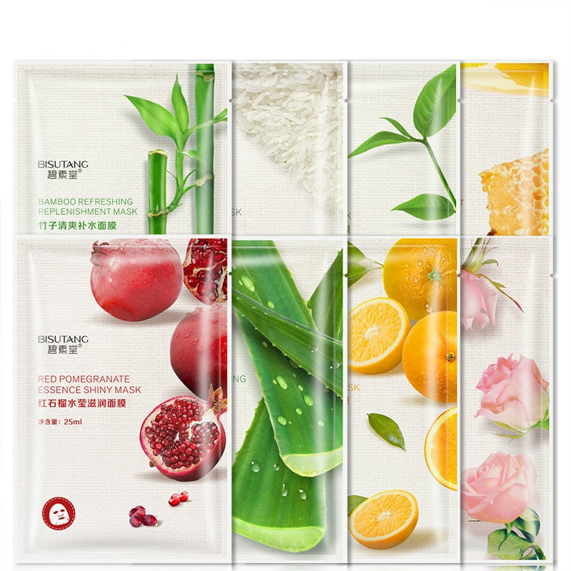 1PCs Extract Water Moisturize Brighten Skin Shrink Pores and Moisturize Facial Mask Skin care produc