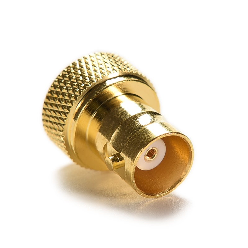 straight rf coaxial adapter f connector to sma convertor quality f type female jack to sma male plug gold tone SMA-BNC Straight Gold SMA Converter SMA Male Plug To BNC Female Jack RF Coax Adapter Connector