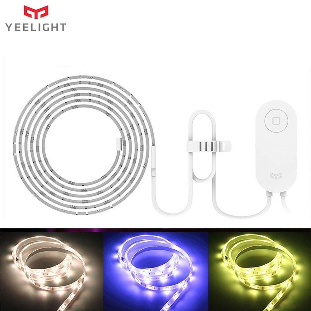 شريط إضاءة ذكي 2 متر من Yeelight RGB LED أصلي من شركة Yeelight ، تطبيق Mi Thuis مزود بخاصية WiFi مع تطبيق Alexa من Google