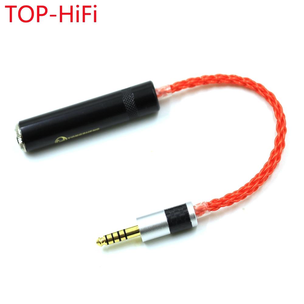 علوي HiFi 4.4 مللي متر TRRS متوازنة ذكر إلى 6.35 مللي متر TRS 3pin أنثى محول الصوت كابل 4.4 مللي متر إلى 1/4 6.35 مللي متر UPOCC واحدة الكريستال النحاس