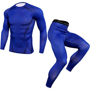 Fitness Clothing Compression Clothing Men'S Quick-Drying Suit Clothes Sports Running Jogging Gym Exercise Fitness Sportswear