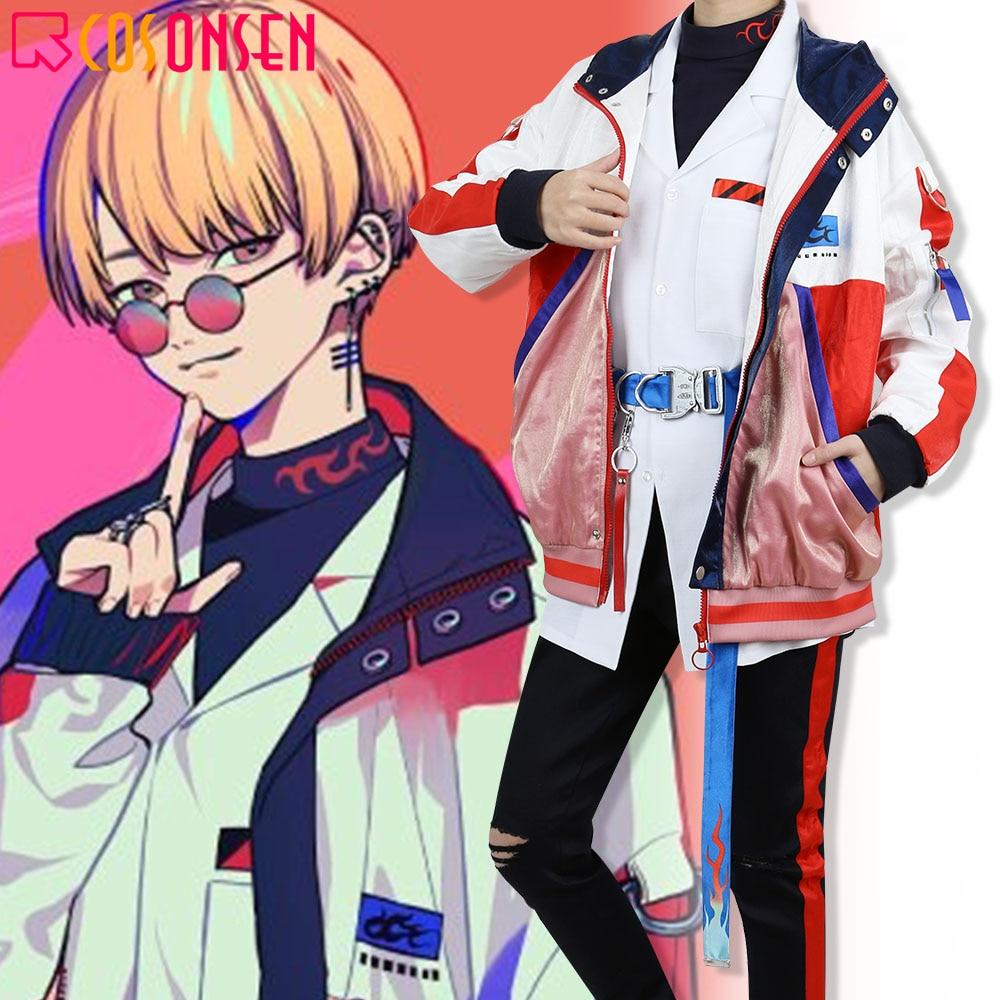 Paradox Live Yeon Hajun-زي تنكري ، بدلة أنيمي هيب هوب ، تأثيري ، مجموعة كاملة مصنوعة حسب الطلب