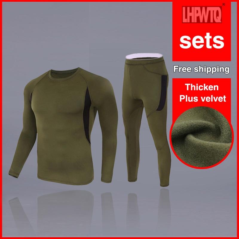Hiver longs johns épais hommes sous-vêtement thermique ensembles garder au chaud pour le Canada russe et européen sous-vêtements + leggings ensemble