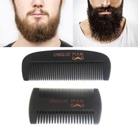1 pc black hair comb anti static wood comb for wet or dry curly thick wavy or straight hair beard detangler comb for men