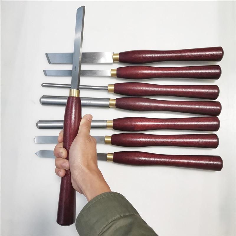 8 قطعة/المجموعة HSS النجارة تحول أداة مجموعة الأحرار مخرطة إزميل مجموعة عالية السرعة الصلب القوس سكين باليد خشبية تحول أداة