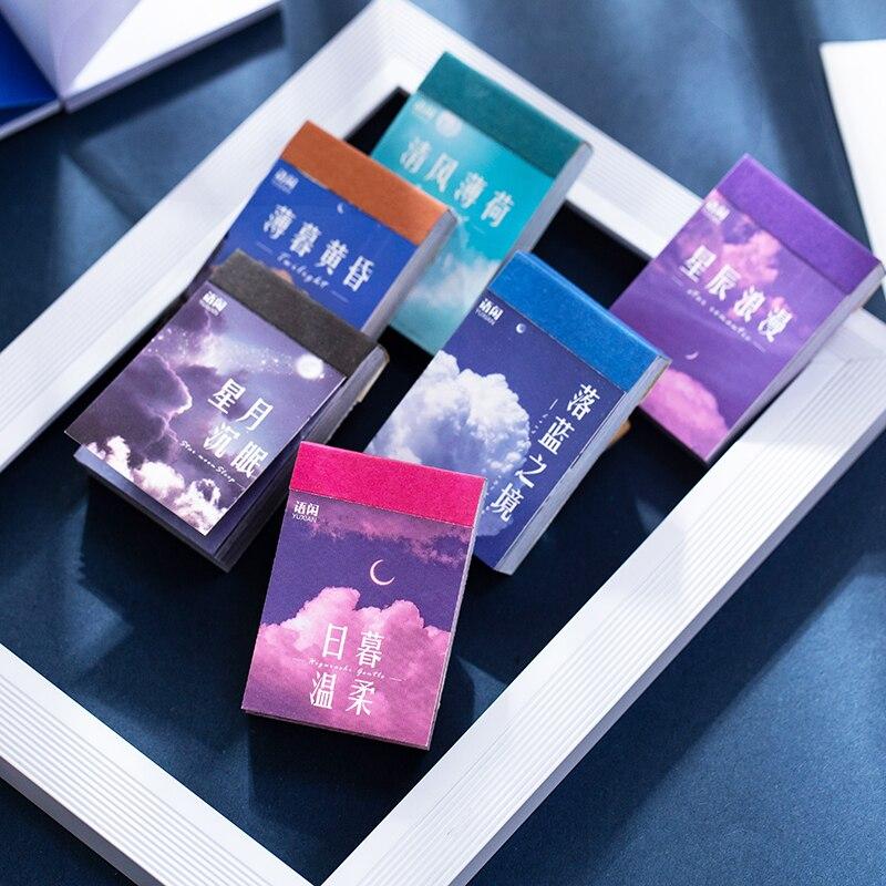 Pegatinas de Material de la serie Sky Cloud, decoración de papel colorido,...